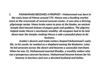 Introduction to Islam PowerPoint