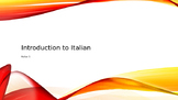 Introduction to Italian