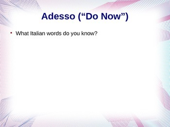 Introduction to Italian: Alphabet and Beginning Pronunciation