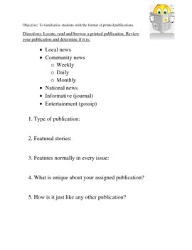 Introduction to Journalism Activities