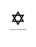 Introduction to Judaism Booklet