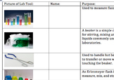 Introduction to Laboratory Tools powerpoint, notes organiz