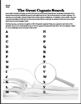 Introduction to Language: Learning the Alphabet through Cognates