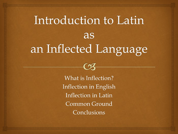 Powerpoint: Introduction to Latin