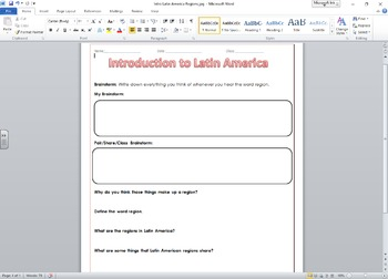 Introduction to Latin American Regions