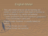 Introduction to Latin Dactylic Hexameter PowerPoint