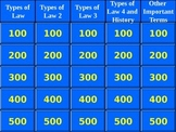 Introduction to Law Jeopardy