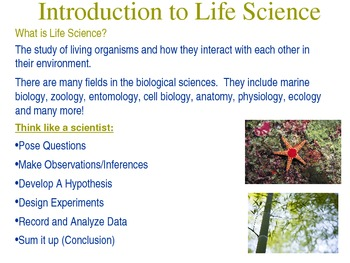 Introduction to Life Science - Inquiry - Power Point