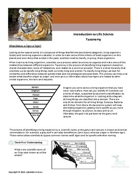 Introduction to Life Science - Taxonomy