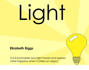 Introduction to Light - Smartboard Lesson