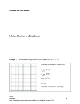Introduction to Limits Lesson 3 of 4