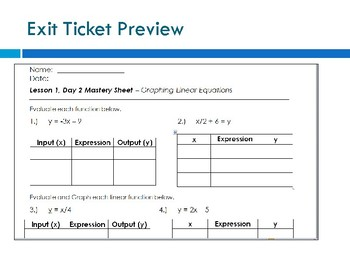 Graphing Linear Equations Using Inputs and Outputs Lesson Plan with SMART