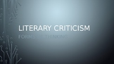 Introduction to Literary Criticism for Advanced Study