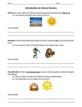 Introduction to Literary Devices - ELA Skills and Test Prep