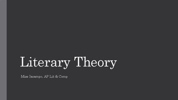 Introduction to Literary Theory PowerPoint