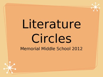 Introduction to Literature Circles PPT