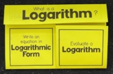 Introduction to Logarithms (Algebra 2 Foldable)