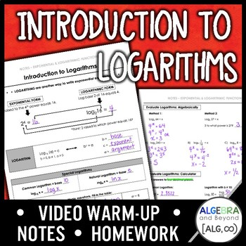 Introduction to Logarithms Lesson