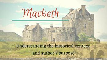 Macbeth - Pre-reading presentation on author's purpose & historical context