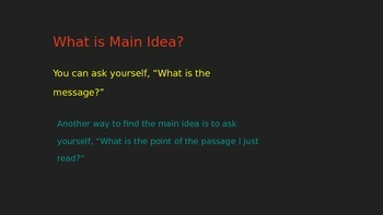 Introduction to Main Idea