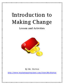 Introduction to Making Change: Lesson and Activities