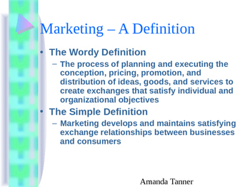 Introduction to Marketing - a PPT Presentation