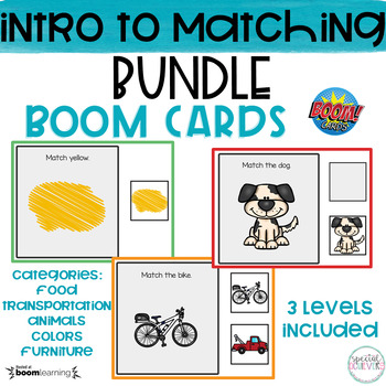 Introduction to Matching | BOOM Cards BUNDLE | DISTANCE LEARNING