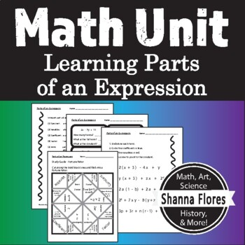 Parts of Math Expression, Review Coefficients, Variables, Factors