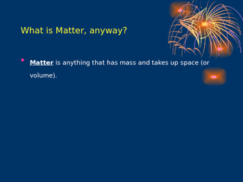 Introduction to Matter Notes