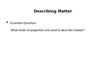 Introduction to Matter PowerPoint