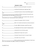 Introduction to Matter Quiz or Worksheet for Physical Science