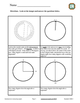 Introduction to Measuring Angles - 4.MD.5