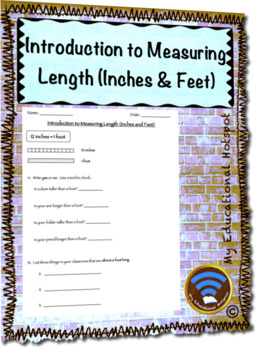 Introduction to Measuring Length (Inches/Feet) Guided Notes Worksheet