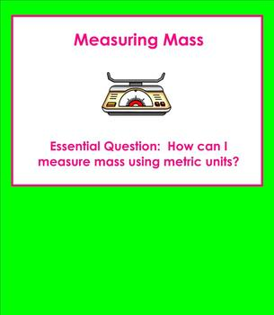 Introduction to Measuring Metric Mass