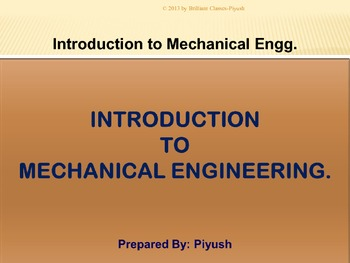 Introduction to Mechanical Engineering