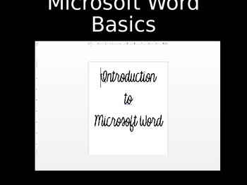 Introduction to Microsoft Word PowerPoint