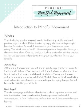 Introduction to Mindful Movement