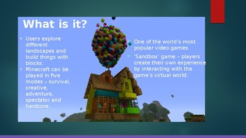 Introduction to Minecraft in the Classroom Powerpoint Presentation
