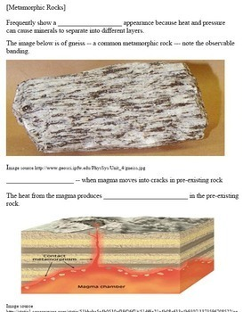 Introduction to Minerals, Rocks and the Rock Cycle Learning Activities