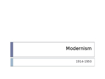 Introduction to Modernism Power Point