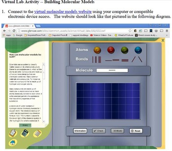 Introduction to Molecular Modeling -- A Virtual Lab