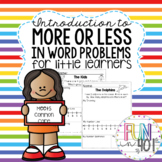 Introduction to More, Less, Addition and Subtraction in Word Problems