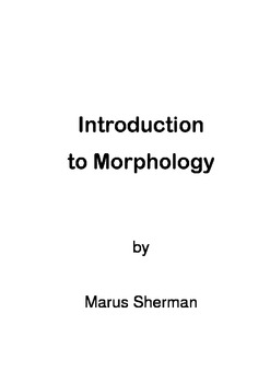 Introduction to Morphology - roots and affixes