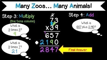 Multiplication with Multiple Digits Bundle