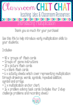 Introducing Multiplication - Early Multiplication Worksheets and Activities