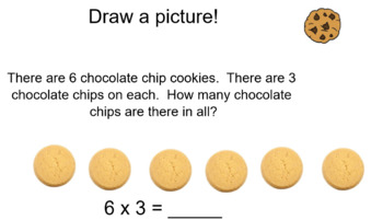 Introduction to Multiplication (Arrays and Groups)- Smart board activity