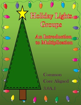 Introduction to Multiplication Equal Groups Game 3.OA.1 Holiday Themed