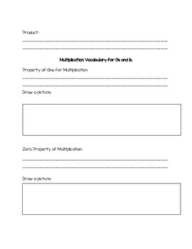 Introduction to Multiplication Guided Notes