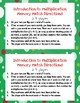 Introduction to Multiplication Memory Match