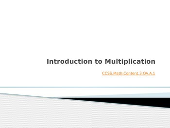 Introduction to Multiplication PPT and Lesson Plan